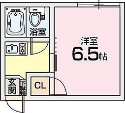 大阪府交野市向井田1丁目の賃貸アパートの間取り