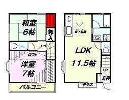 [テラスハウス] 東京都八王子市北野町 の賃貸【東京都 / 八王子市】の間取り
