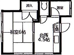 コーポ東大和田[2階]の間取り