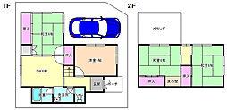 [一戸建] 大阪府交野市私部西3丁目 の賃貸【/】の間取り
