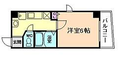 プレミアム新福島[5階]の間取り