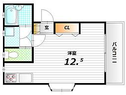 エトワール寺田[3階]の間取り