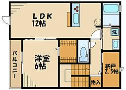 (仮称)矢崎町計画 2階1SLDKの間取り