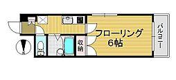 K−SQUARE[402号室]の間取り