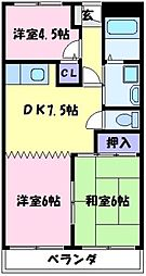 エクセランス福田[3階]の間取り