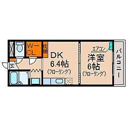 滋賀県長浜市祇園町の賃貸アパートの間取り