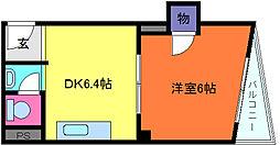プチシャトー徳井[3階]の間取り