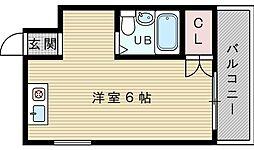 シャトレ下新庄[4階]の間取り