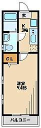 ピアコートTM保谷壱番館 4階1Kの間取り