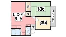 アーバン宏栄[2階]の間取り