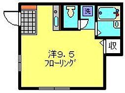 神奈川県川崎市中原区新城中町の賃貸マンションの間取り