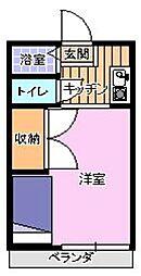 ラ・フォーレ赤坂[207号室]の間取り