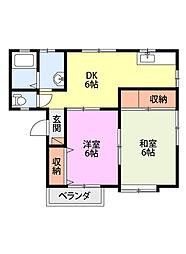 リエットB[2階]の間取り