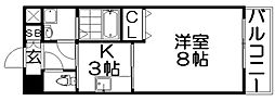 ロータリーマンション香里西之町[2階]の間取り