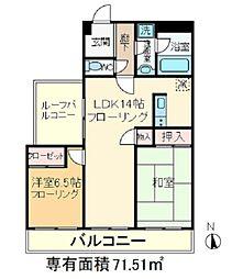東京都北区豊島8丁目の賃貸マンションの間取り