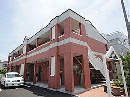 埼玉県草加市長栄1の賃貸アパートの外観