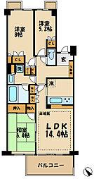 ソフィア府中多摩川 3階3LDKの間取り