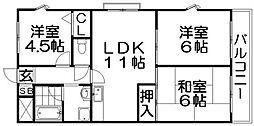 ハイムモリシタ[7階]の間取り