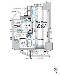 メインステージ若松河田 2階1Kの間取り