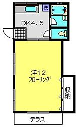 マリンコートA[1-2号室]の間取り