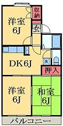 千葉県千葉市緑区おゆみ野中央4丁目の賃貸アパートの間取り
