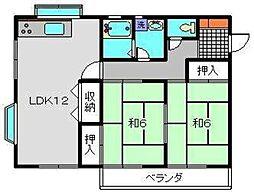 下瀬谷ハイツ第5[2階]の間取り