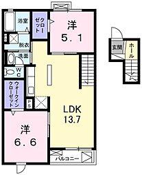 クレール青葉台[4階]の間取り