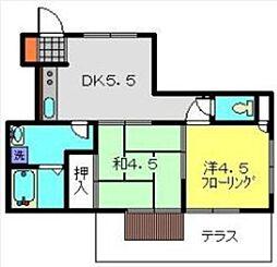神奈川県横浜市港南区港南2丁目の賃貸マンションの間取り