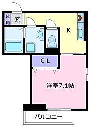 VILLA北花田D-room[2階]の間取り