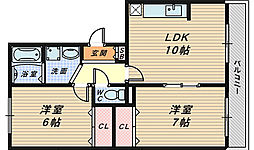 シャンポール弐番館[2階]の間取り