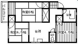 第2御陵ビル[401号室]の間取り
