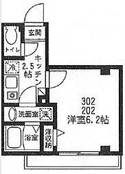 東京都新宿区揚場町の賃貸マンションの間取り