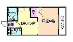 プレズンコート加藤[2階]の間取り