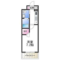 Osaka Metro谷町線 平野駅 徒歩2分の賃貸マンション 7階1Kの間取り