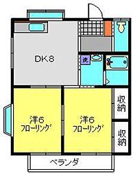 一番館[102号室]の間取り