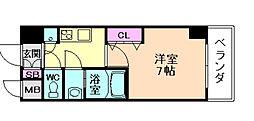 ファーストステージ梅田WEST[6階]の間取り