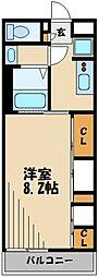 西武新宿線 狭山市駅 徒歩7分の賃貸アパート 1階1Kの間取り