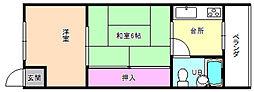 大阪府枚方市春日元町1丁目の賃貸マンションの間取り