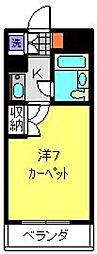 神奈川県横浜市神奈川区三ツ沢南町の賃貸マンションの間取り