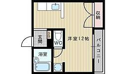 ハイツククポーレ[2階]の間取り