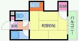第3ササイマンション[4階]の間取り