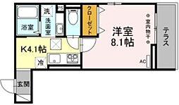 仮)D-room大塚帝京 1階1Kの間取り