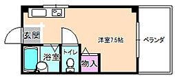 シャンテー招提[4階]の間取り
