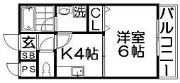 ユーベル1[2階]の間取り