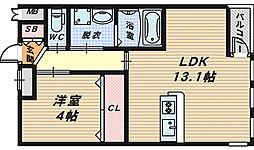 スタービレB棟[1階]の間取り