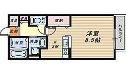 大阪府堺市堺区宿屋町西2丁の賃貸アパートの間取り