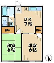 神奈川県相模原市中央区宮下2丁目の賃貸アパートの間取り