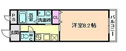 大阪府大阪市西淀川区野里2丁目の賃貸アパートの間取り
