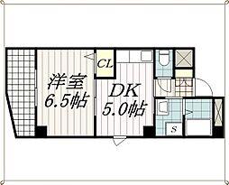 千葉県千葉市中央区新千葉1丁目の賃貸マンションの間取り