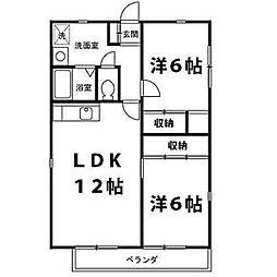 グリーンハイツ東戸塚[2階]の間取り